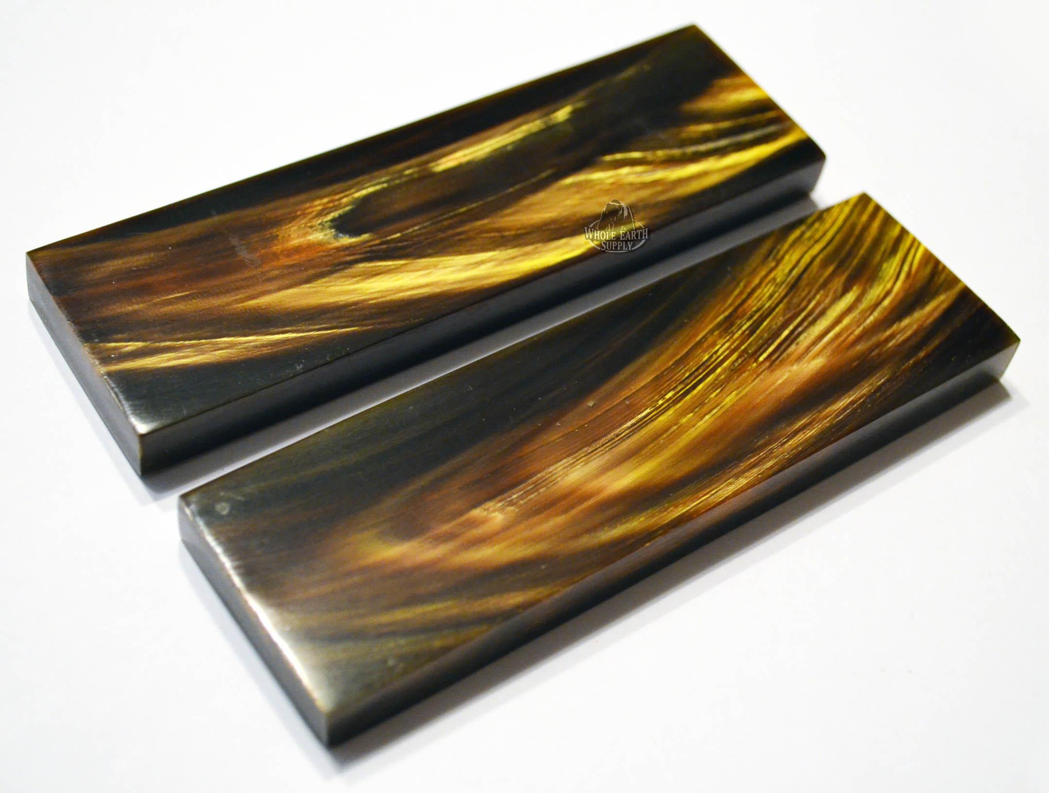Whole Earth Supply Com 5 Inch Black Buffalo Horn Gold